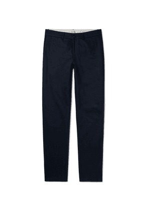 Freemans Sporting Club - Navy Herringbone Cotton Trousers - Navy