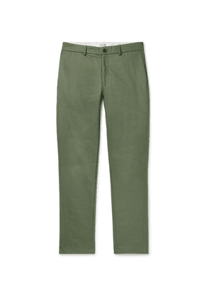 Freemans Sporting Club - Herringbone Cotton Trousers - Army green