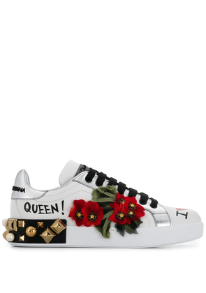 Dolce & Gabbana embellished sneakers - White