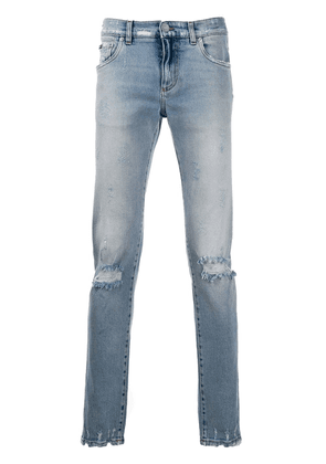 Dolce & Gabbana distressed slim-fit jeans - Blue