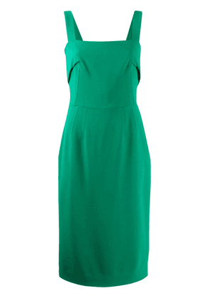 Dolce & Gabbana dart-detail square-neck dress - Green