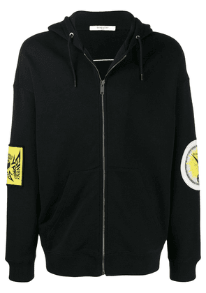 Givenchy logo patch hoodie - Black