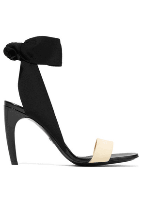 Proenza Schouler - Canvas, Rubber And Leather Sandals - Black
