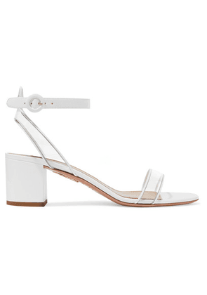 Aquazzura - Minimalist 50 Patent-leather And Pvc Sandals - White