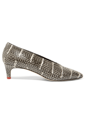 aeyde - Camilla Snake-effect Leather Pumps - Snake print