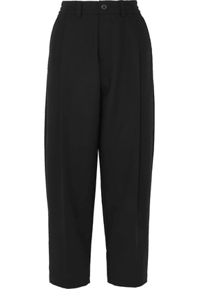 McQ Alexander McQueen - Pleated Wool Straight-leg Pants - Black