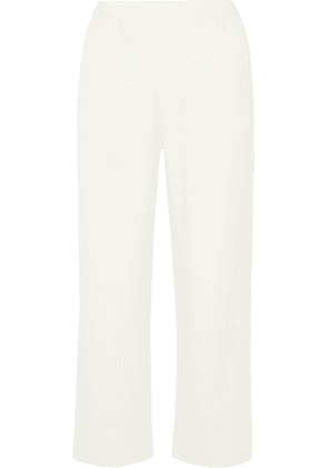 MM6 Maison Margiela - Cropped Twill Straight-leg Pants - Cream