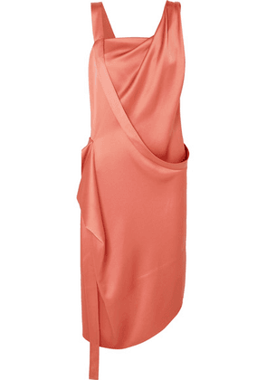 Vivienne Westwood - Thea Draped Asymmetric Satin Dress - Blush