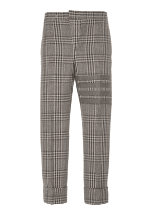 Thom Browne Striped Checked Wool Pants