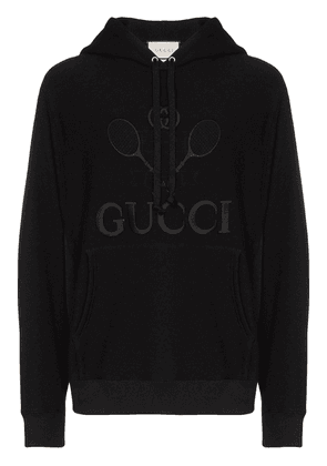 Gucci Tennis logo-embroidered hoodie - Black