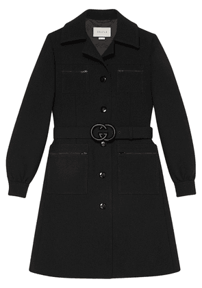 Gucci GG belt coat - Black