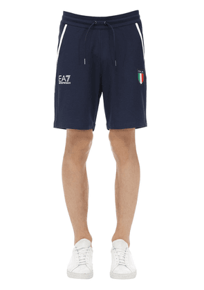Team Italia Stretch Cotton Jersey Shorts