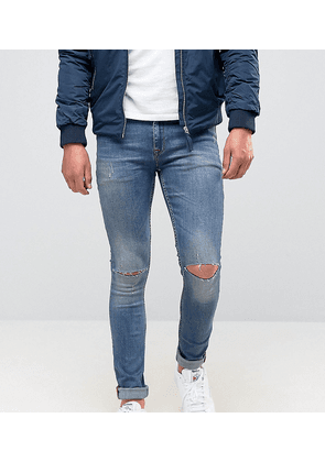 ASOS TALL Super Skinny Jeans With Knee Rips