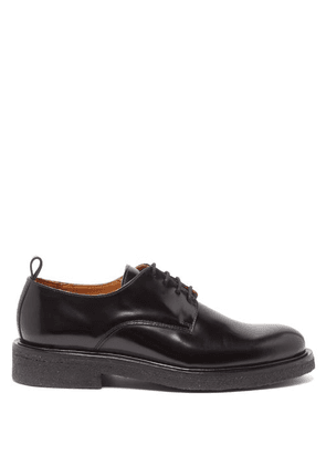 Ami - Spazzolato Leather Derby Shoes - Mens - Black