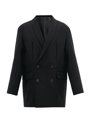 Wooyoungmi - Oversized Double Breasted Wool Blazer - Mens - Black