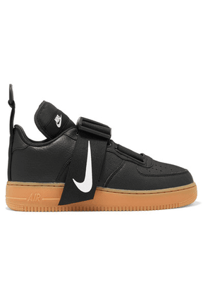 Nike - Air Force 1 Utility Piqué, Smooth And Textured-leather Sneakers - Black