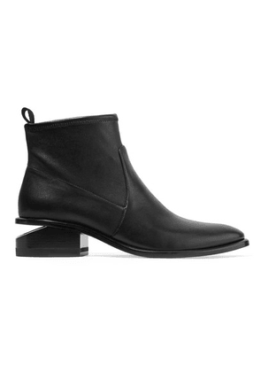 Alexander Wang - Kori Cutout Leather Ankle Boots - Black