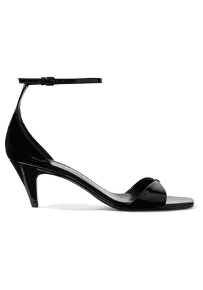 SAINT LAURENT - Charlotte Patent-leather Sandals - Black