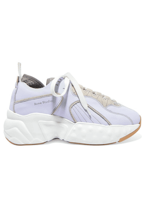 Acne Studios - Manhattan Leather, Suede And Mesh Sneakers - Sky blue