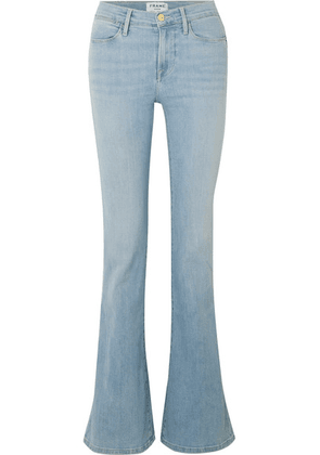FRAME - Le High Flare Mid-rise Flared Jeans - Light denim