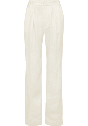 FRAME - Service Linen-blend Wide-leg Pants - White