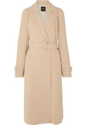Theory - Belted Crepe Trench Coat - Beige