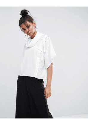 ASOS Cowl Neck Top with D-Ring Detail
