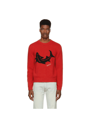 Gucci Red Shark Sweater