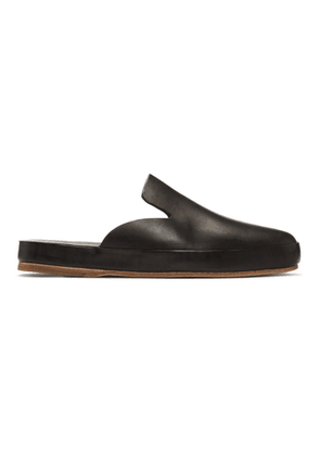 Feit Black Hand Sewn Mule Loafers