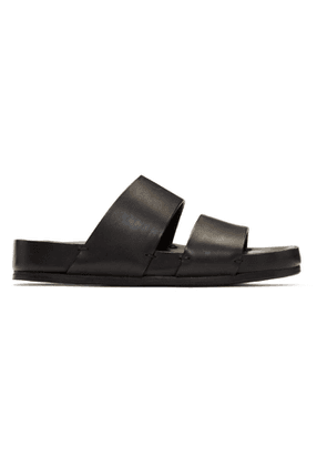 Feit Black Slip-On Sandals