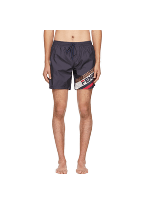 Fendi Navy Fendi Mania Tech Swim Shorts