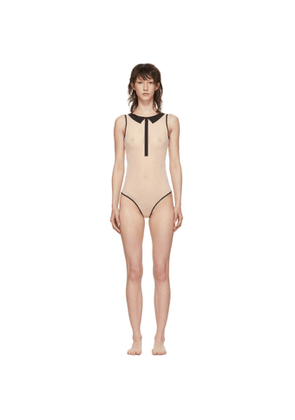 Chantal Thomass Beige Singuliere Bodysuit