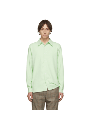 Tibi SSENSE Exclusive Green Classic Shirt