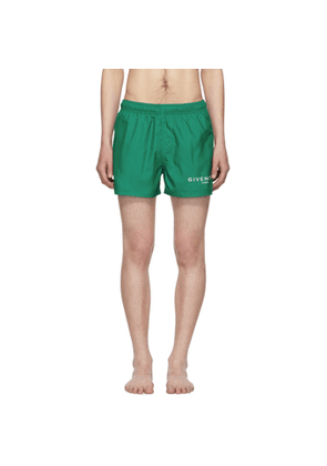 Givenchy Green Logo Swim Shorts