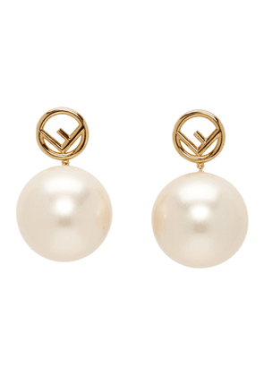 Fendi Gold Pearl F is Fendi Earrings