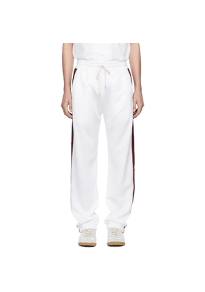 Band of Outsiders White Aspen Tech Track Pants