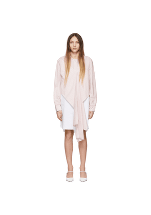 Cedric Charlier Pink and White Stripe Dress