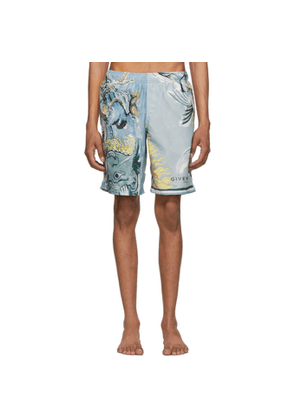Givenchy Blue Icarus Classic Swim Shorts