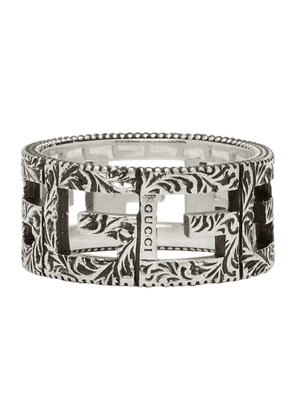 Gucci Silver Square G Ring
