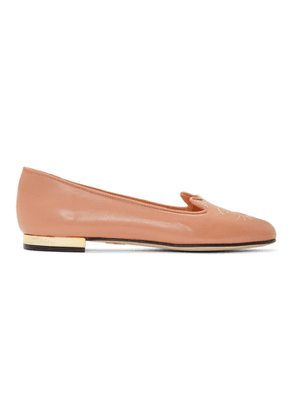 Charlotte Olympia Pink Nocturnal Kitty Loafers
