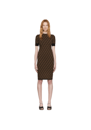 Fendi Black and Brown Forever Fendi Dress