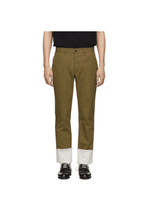 Loewe Beige Turn Up Chino Trousers