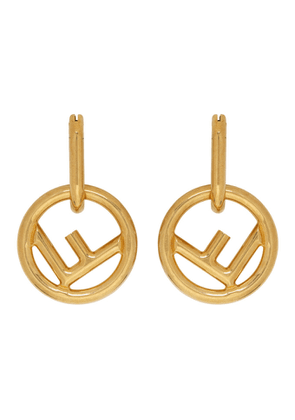 Fendi Gold F is Fendi Hoop Earrings