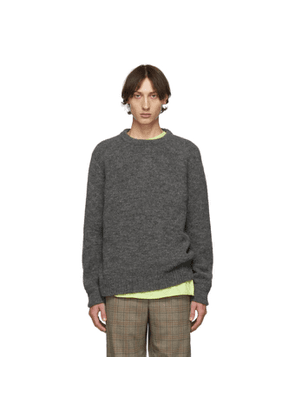 Tibi SSENSE Exclusive Grey Airy Crewneck Sweater