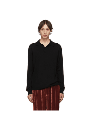 Tibi SSENSE Exclusive Black Hybrid Polo