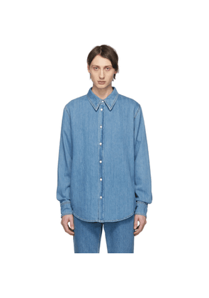 Calvin Klein 205W39NYC Blue Denim Jaws Shirt