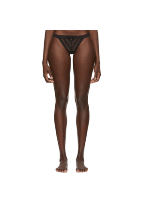 Chantal Thomass Black Influente Thong