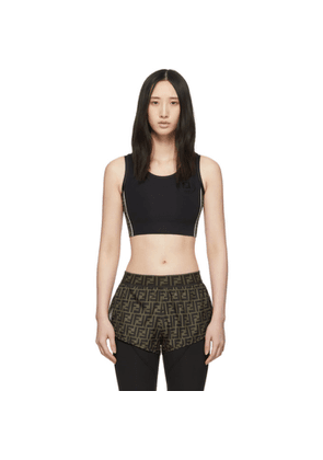 Fendi Black Forever Fendi Stamp Sports Bra