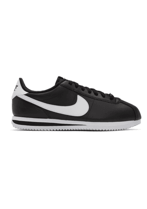 Nike Black Leather Basic Cortez Sneakers