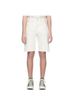 Band of Outsiders White Raw Denim Regular Fit Shorts